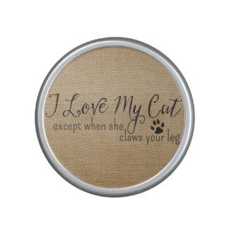 Amor de la arpillera I que mi gato exceptúa cuando Altavoz Bluetooth