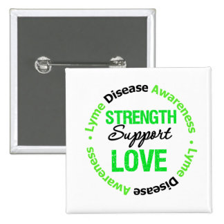 Amor de la ayuda de la fuerza de la enfermedad de  pin cuadrada 5 cm