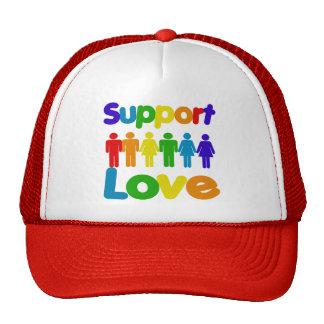 Amor de la ayuda gorras