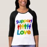 Amor de la ayuda - matrimonio homosexual camisetas