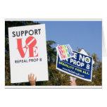 Amor de la ayuda, no odio - no en el apoyo 8 tarjeton