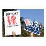 Amor de la ayuda, no odio - no en el apoyo 8 tarjetas postales