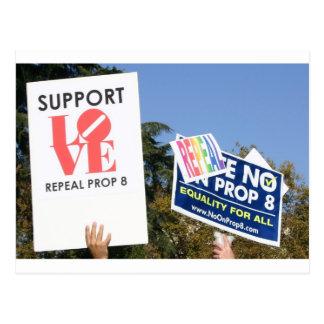 Amor de la ayuda, no odio - no en el apoyo 8 tarjeta postal