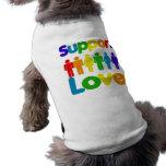 Amor de la ayuda playera sin mangas para perro