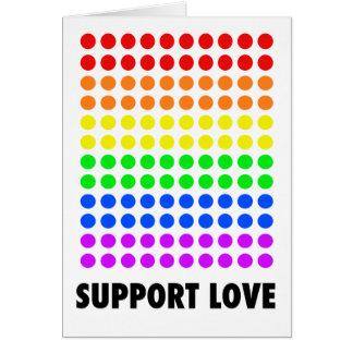 Amor de la ayuda tarjeta de felicitación