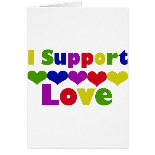 Amor de la ayuda tarjetas
