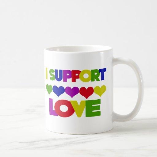 Amor de la ayuda taza de café