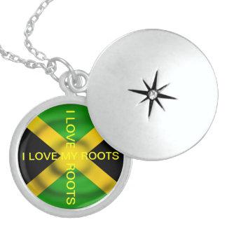Amor de la bandera I de Jamaica mi Locket de las r Joyería