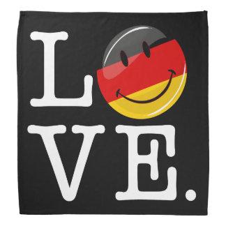 Amor de la bandera sonriente de Alemania Bandana