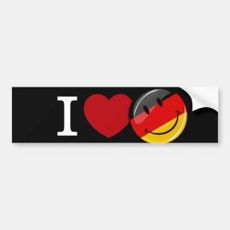 Amor de la bandera sonriente de Alemania Pegatina Para Auto