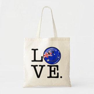 Amor de la bandera sonriente de Australia Bolsa Tela Barata