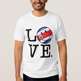 Amor de la bandera sonriente de Coasta Rica Camisas