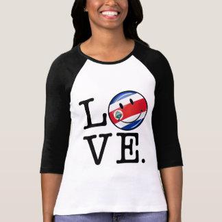Amor de la bandera sonriente de Coasta Rica Playera