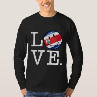 Amor de la bandera sonriente de Coasta Rica Remera