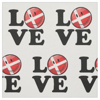 Amor de la bandera sonriente de Dinamarca Telas
