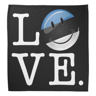 Amor de la bandera sonriente de Estonia Bandana