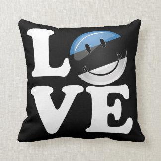Amor de la bandera sonriente de Estonia Cojín
