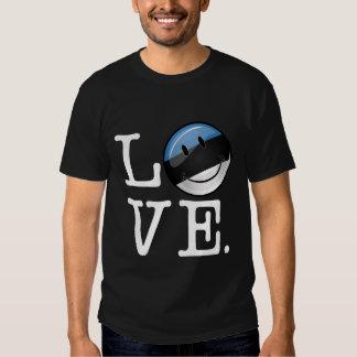 Amor de la bandera sonriente de Estonia Remera