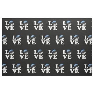 Amor de la bandera sonriente de Estonia Telas