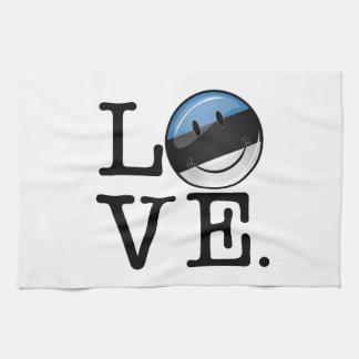 Amor de la bandera sonriente de Estonia Toallas