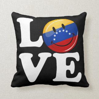 Amor de la bandera sonriente de Venezuela Cojín