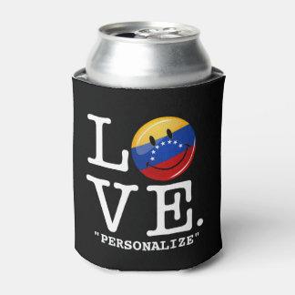 Amor de la bandera sonriente de Venezuela Enfriador De Latas