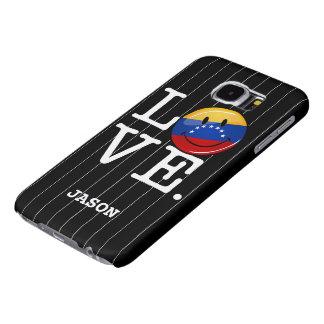 Amor de la bandera sonriente de Venezuela Fundas Samsung Galaxy S6