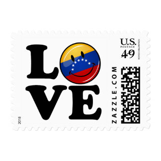 Amor de la bandera sonriente de Venezuela Sellos