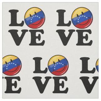 Amor de la bandera sonriente de Venezuela Telas