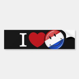 Amor de la bandera sonriente holandesa pegatina para auto