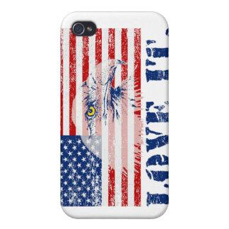 AMOR de la bandera y de Eagle de los E.E.U.U. del  iPhone 4/4S Funda