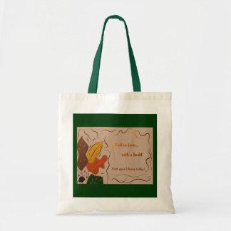 Amor de la biblioteca bolsa tela barata