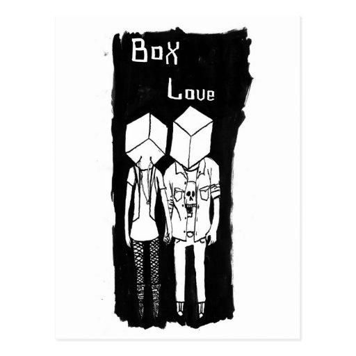 Amor de la caja tarjeta postal