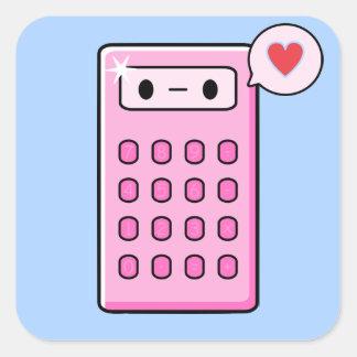 Amor de la calculadora pegatina cuadrada