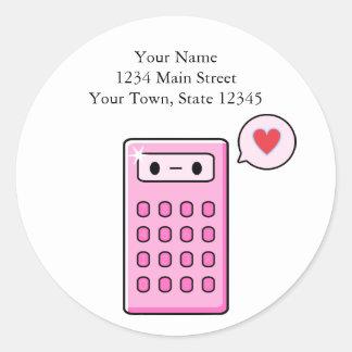Amor de la calculadora pegatina