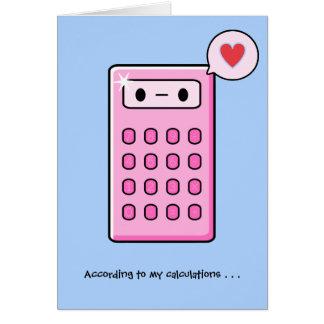 Amor de la calculadora felicitación
