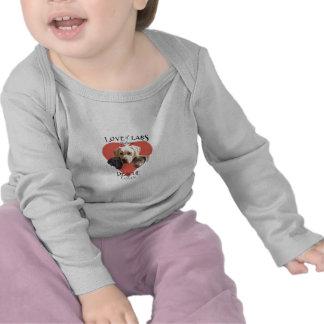 Amor de la camiseta infantil de largo envuelta de
