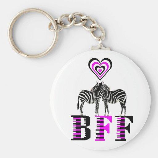 Amor de la cebra - BFF Llaveros Personalizados