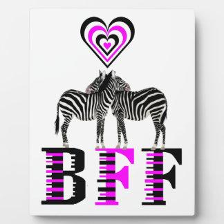 Amor de la cebra - BFF Placas De Madera