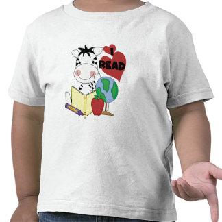 Amor de la cebra para leer las camisetas y los