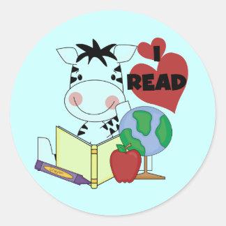 Amor de la cebra para leer las camisetas y los reg etiqueta