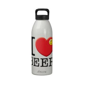 Amor de la cerveza botella de agua reutilizable
