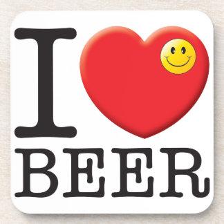 Amor de la cerveza posavasos