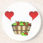 Amor de la cesta de Apple Posavasos Diseño