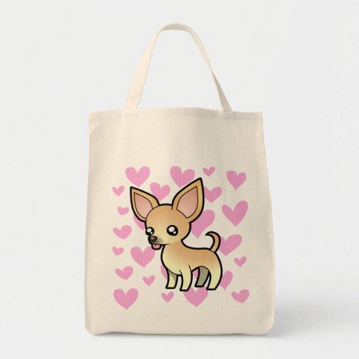 Amor de la chihuahua (capa lisa) bolsas de mano