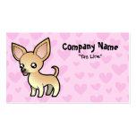 Amor de la chihuahua (capa lisa) tarjeta de visita