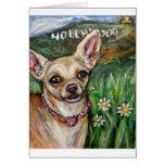 Amor de la chihuahua de Hollywood Tarjeta