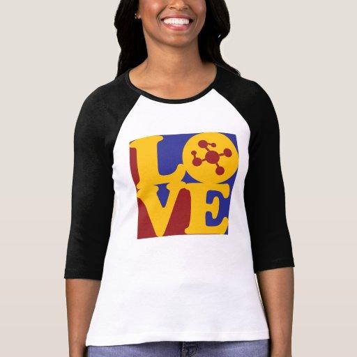 Amor de la ciencia camisetas