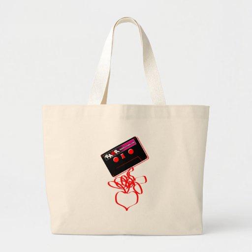 Amor de la cinta de la roca - corazón de la roca d bolsas de mano