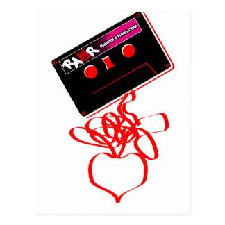 Amor de la cinta de la roca - corazón de la roca d tarjeta postal